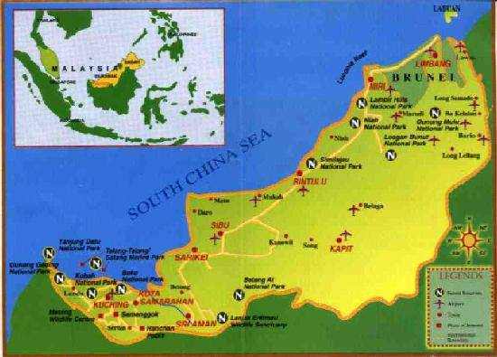 map sarawak