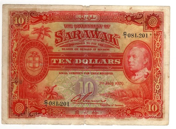Ten Dollar The Government Of Sarawak