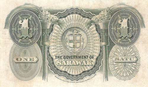 One Dollar The Government Of Sarawak